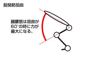 股関節屈曲(角度)